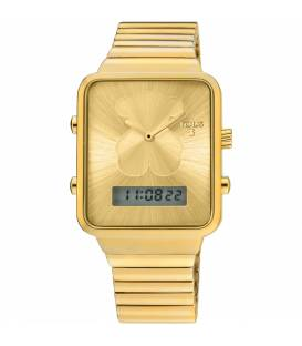 Reloj digital I-Bear de acero IP dorado 700350125