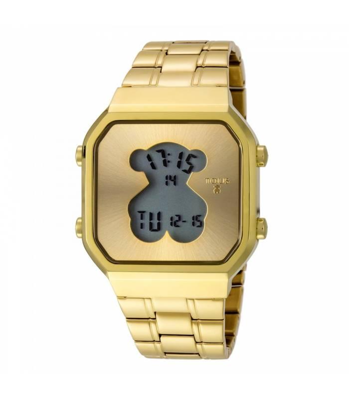 Reloj Tous D-Bear SQ de acero IP dorado 600350285