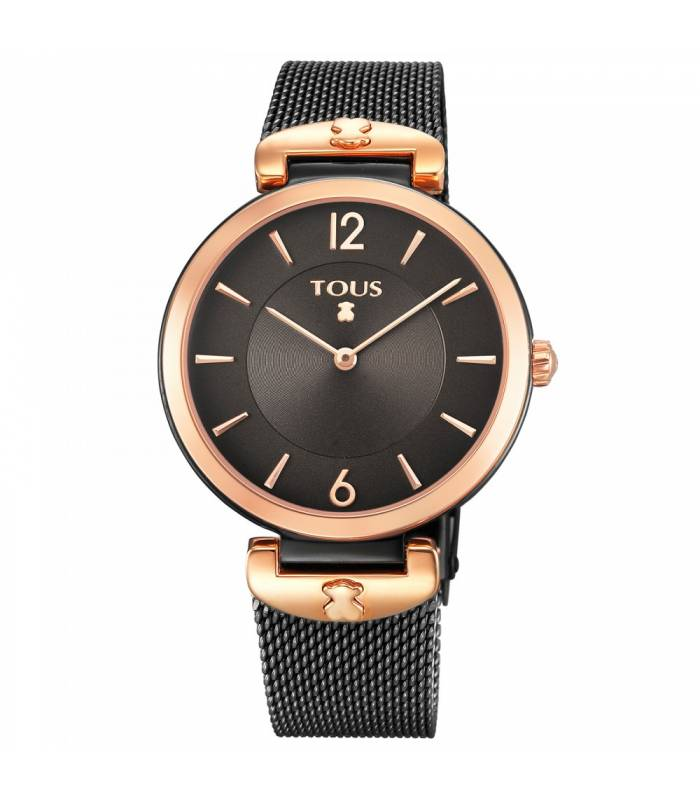 Reloj Tous S-Mesh bicolor acero IP rosado/IP negro 700350300