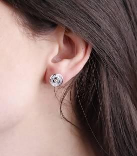 """Pendientes """"Solera"""" de Oro Blanco 18k. y Diamantes"""