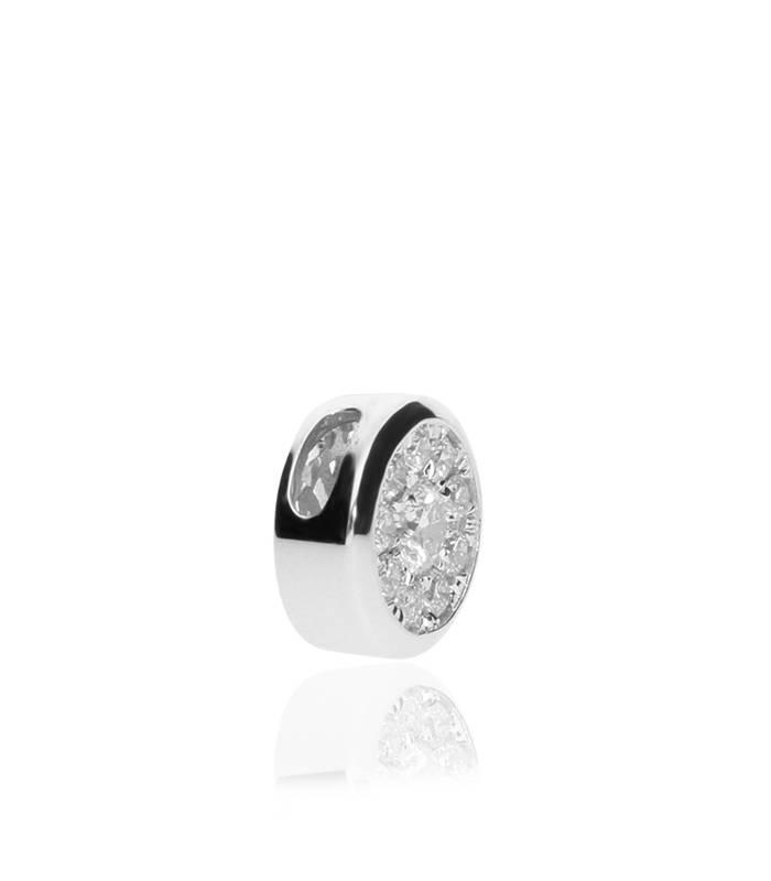 "Colgante ""Moon"" Oro Blanco 18k y Diamantes"