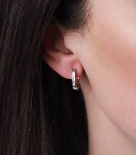 """Pendientes """"Marita"""" de Oro Blanco 18k. y Diamantes"""