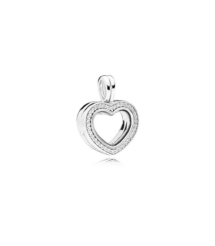 f3736c68090b Charm colgante PANDORA plata de ley Locket Corazón Brillante 797248CZ