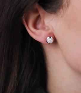 """Pendientes """"Alam"""" de Oro Blanco 18k. y Diamantes"""