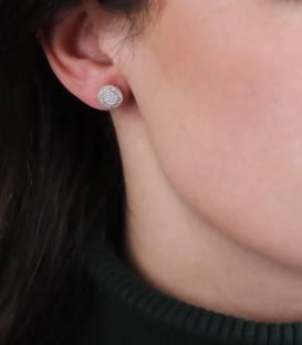 """Pendientes """"Simona"""" de Oro Blanco 18k. y Diamantes"""
