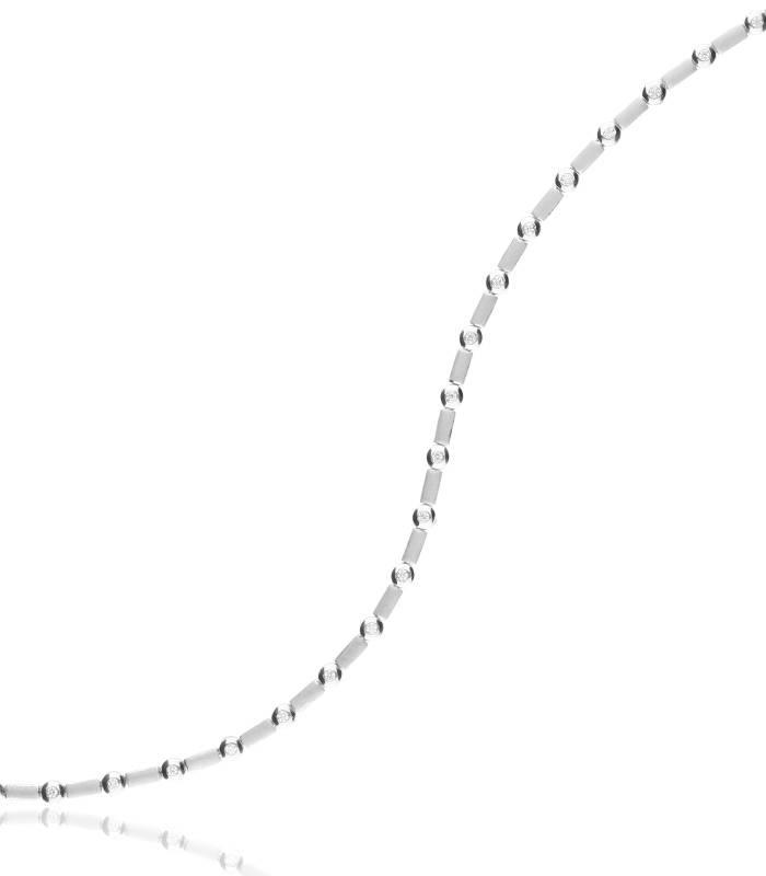 Pulsera Oro blanco 18k y diamantes