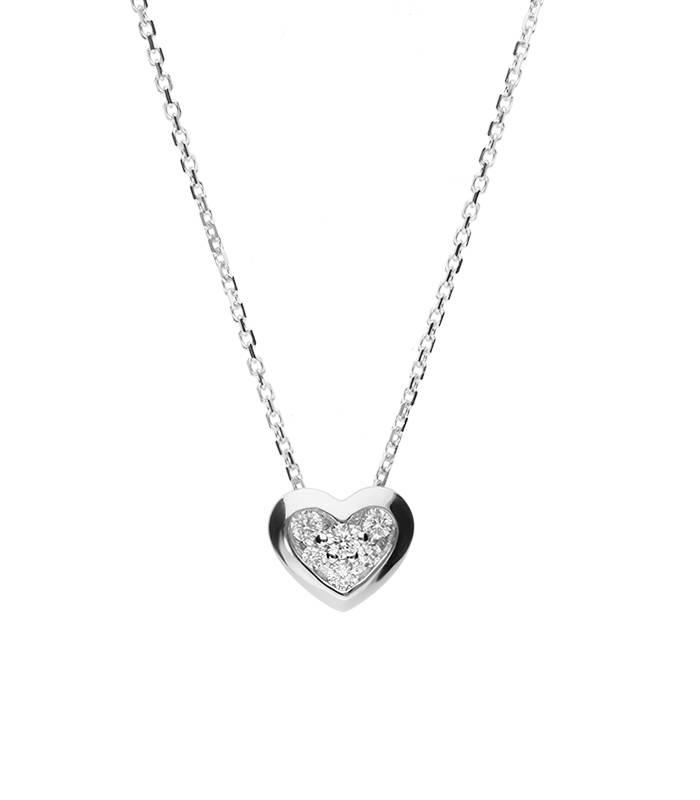 """Gargantilla """"Corazón de Diamantes"""" oro 18k y diamantes"""
