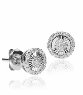 """Pendientes """"Oriana"""" de Oro Blanco 18k. y Diamantes"""