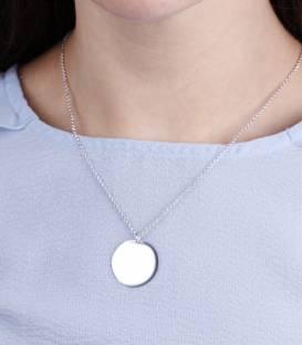 """Gargantilla con Medalla """"Big Plate"""" Plata de Ley"""