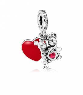 Charm colgante en plata de ley Minnie y Mickey con Amor 797769CZR