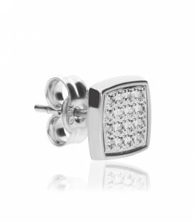 """Pendientes Cuadrados """"Maya"""" diamantes y oro blanco 18k"""