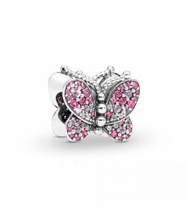 Charm en plata de ley Mariposa Rosa Deslumbrante 797882NCCMX