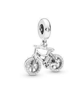 Charm colgante en plata de ley Bicicleta Brillante 797858CZ