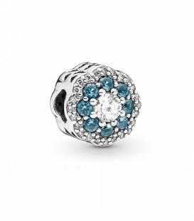 Charm en plata de ley Flor Azul Brillante 797851NMB