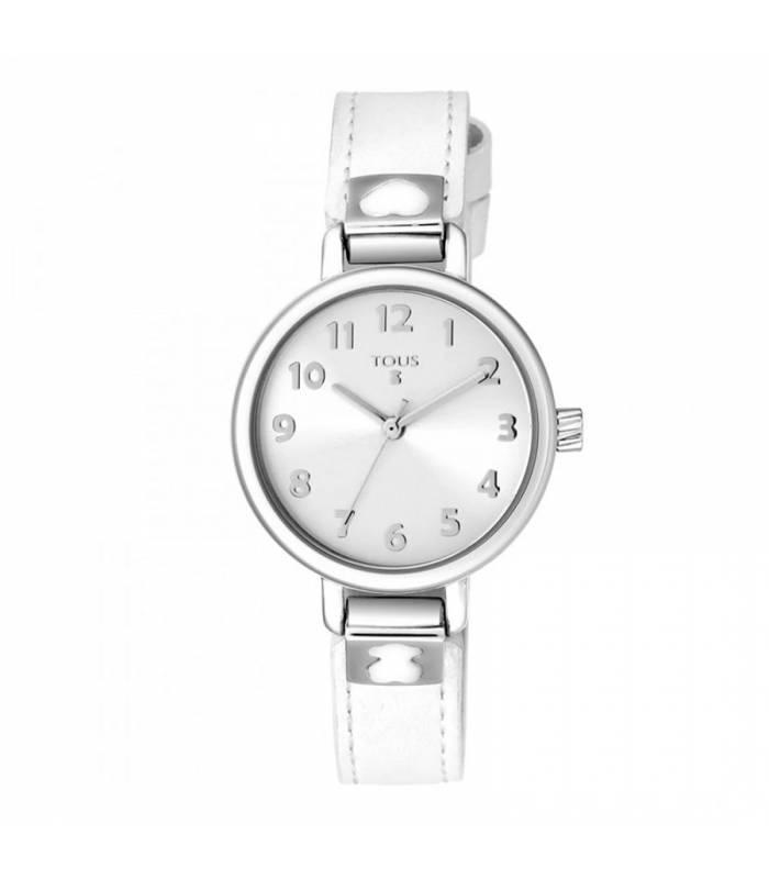 Reloj Tous Dream de acero con correa de piel blanca 900350195