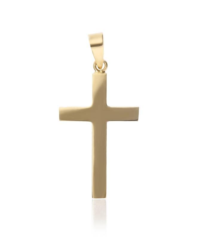 Colgante Cruz Lisa de Oro 18k.