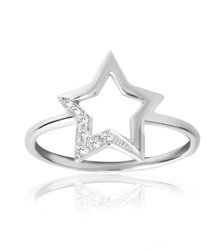 """Anillo """"LIFE Star"""" Con Diamantes Oro 18 k"""