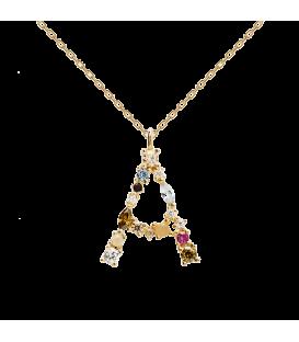 Collar Plata Baño de oro PDPAOLA Letra CO01-096-U