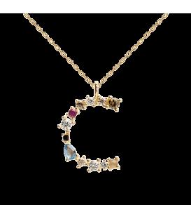 Collar Plata Baño de oro PDPAOLA Letra C CO01-098-U