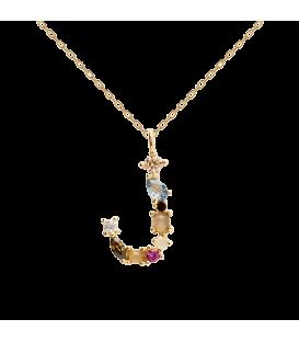 Collar Plata Baño de oro PDPAOLA Letra J CO01-105-U
