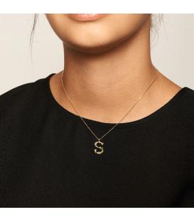Collar Plata Baño de oro PDPAOLA Letra S CO01-114-U