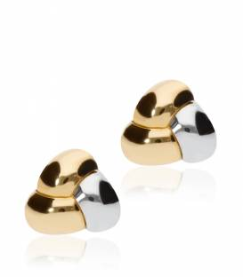 "Pendientes ""Raish"" de Oro Bicolor 18k."