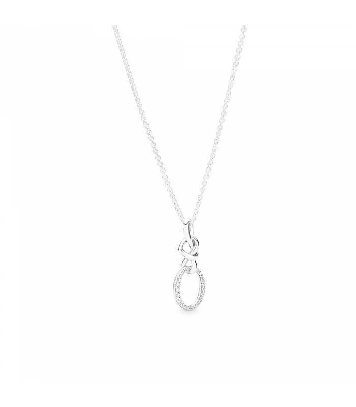 Collar PANDORA en plata de ley Corazones Anudados 398078CZ-60