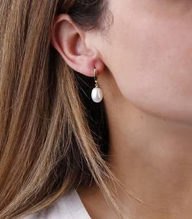 """Pendientes """"Clara"""" Oro Bicolor 18k y perlas"""