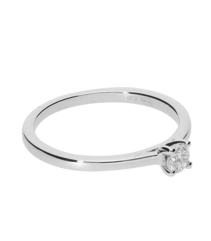 """Anillo """"Iris"""" 0.20cts. Oro Blanco y Diamante"""