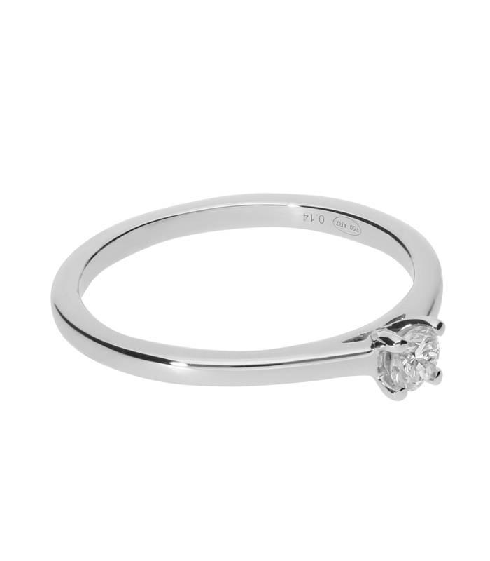 """Anillo """"Iris"""" 0.15cts Oro Blanco y Diamante"""
