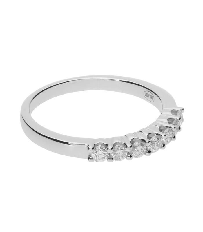 """Anillo """"Amber"""" 0.34 cts. Oro Blanco y Diamante"""