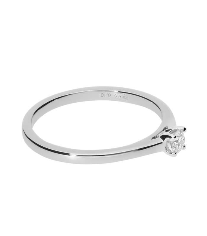"""Anillo """"Iris"""" 0.11 cts. Oro Blanco y Diamante"""