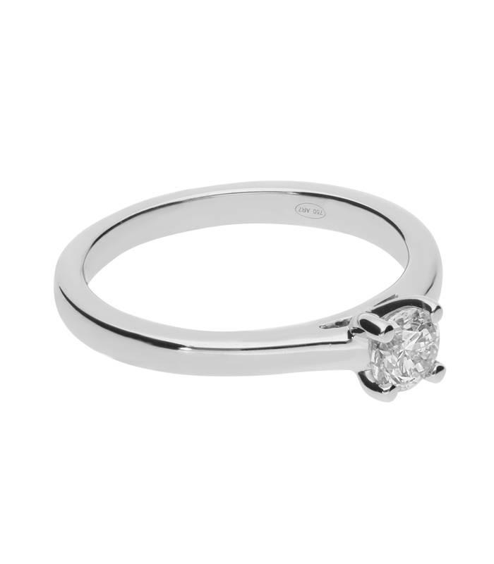 """Anillo """"Iris"""" 0.40 cts. Oro Blanco y Diamante"""