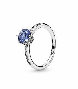 Anillo en plata de ley Corona Brillante Azul 198289NSWB