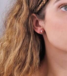 """Pendientes """"Lilo Gold"""" Oro 18k y Perla Cultivada"""