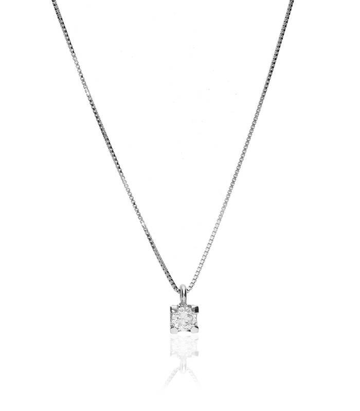"""Gargantilla """"Amanita S"""" en Oro blanco 18k y Diamantes"""