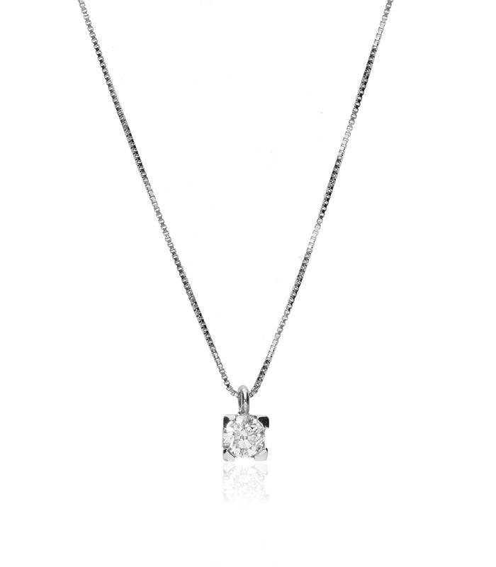 """Gargantilla """"Amanita M"""" en Oro blanco 18k y Diamantes"""