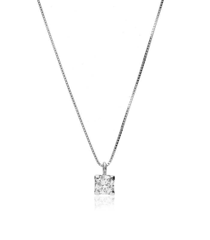 """Gargantilla """"Amanita L"""" en Oro blanco 18k y Diamantes"""