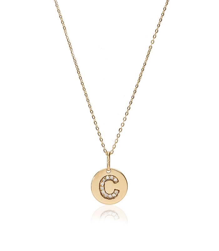 """Gargantilla """"Bright C"""" en Oro 18k y Diamantes"""