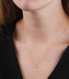 "Gargantilla ""Single Lula Gold"" en Oro 18k y piedra de color"
