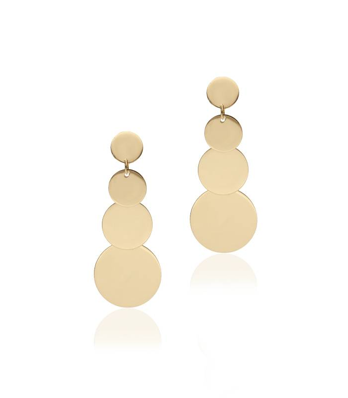 "Pendientes ""HoneyMoon"" Oro 18k y circonitas"