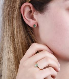 "Anillo ""Green Dream"" Oro 18k. y piedra verde"