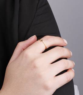 "Anillo ""Minimal Cross"" Oro 18k"