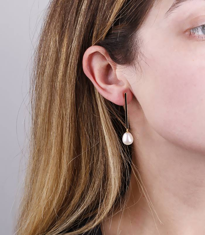 """Pendientes """"Enma Pearl"""" Oro 18k y perlas cultivadas"""