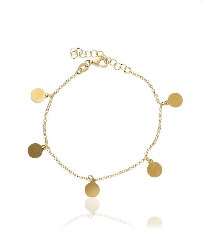 """Pulsera """"MiniMoons Gold"""" Plata de Ley y baño de oro"""