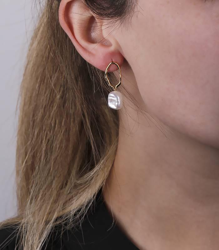"""Pendientes """"Ofilia"""" Oro 18k y perlas cultivadas"""