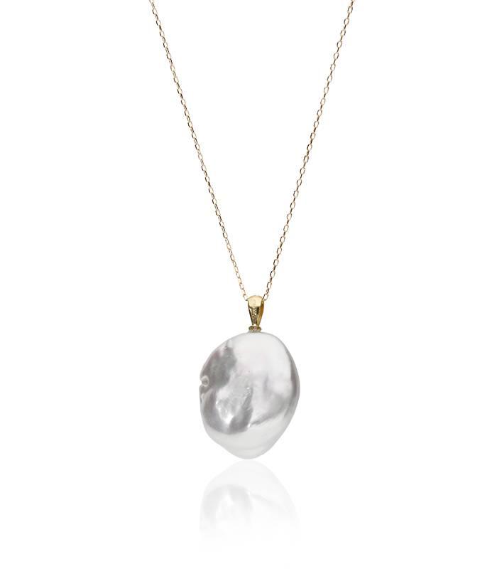 """Gargantilla """"Luisa"""" en Oro 18k y perla cultivada"""