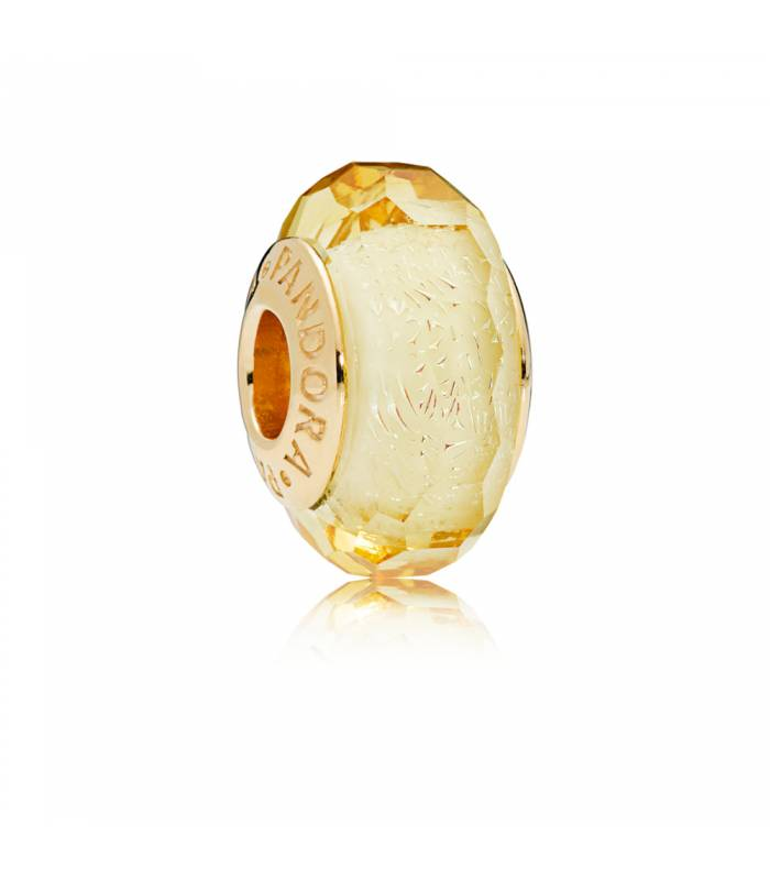 Charm Pandora cristal de Murano Dorado Facetado 767647