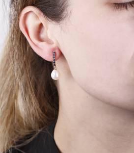 """Pendientes """"SapPhire Pearl"""" Oro 18k. Perlas cultivadas y zafiros"""
