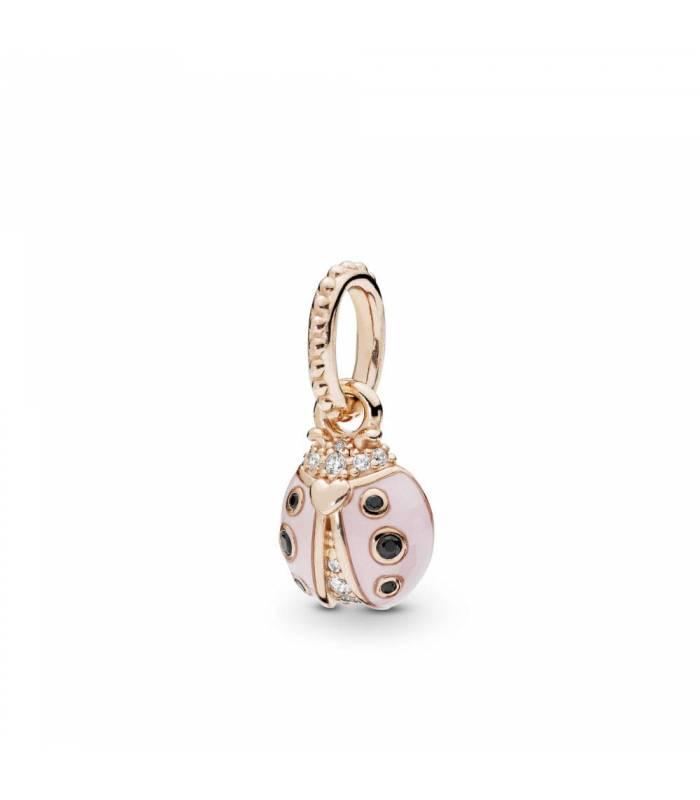 Colgante Pandora Rose Mariquita de la Suerte Rosa 387909EN160